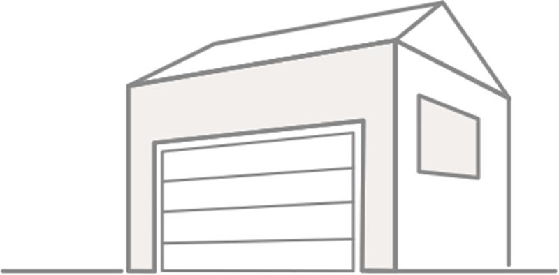 garážová vrata nákres