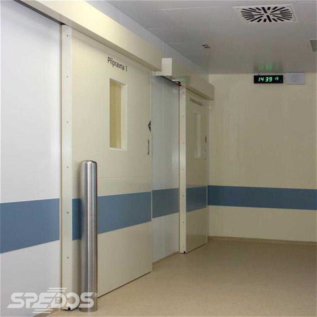 Jednokřídlé automatické dveře pro nemocnice