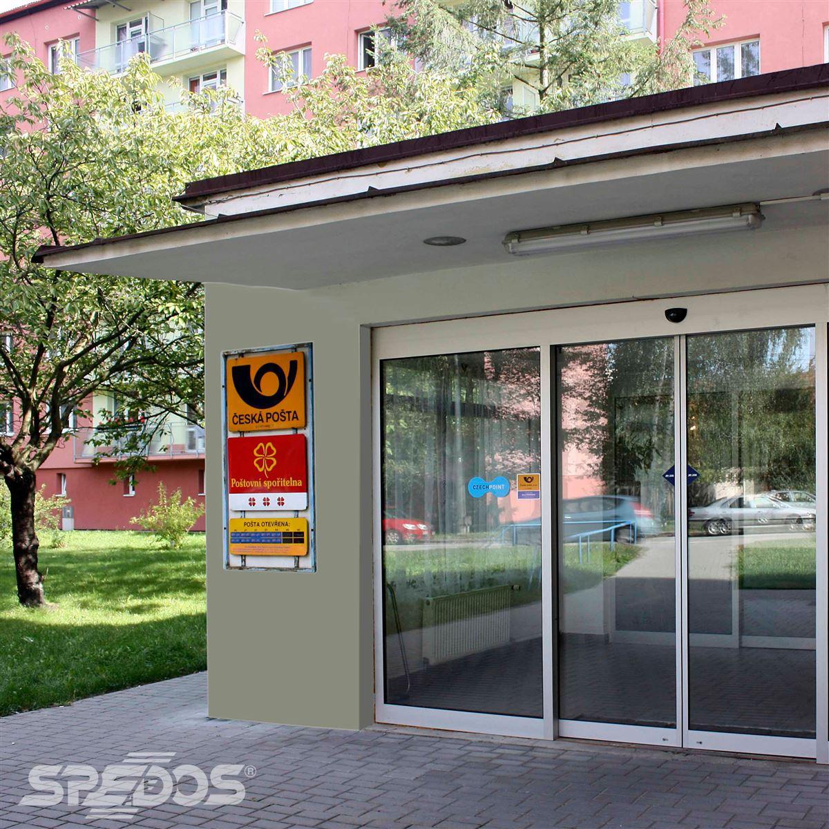 Posuvné dvoukřídlé dveře s elektropohonem