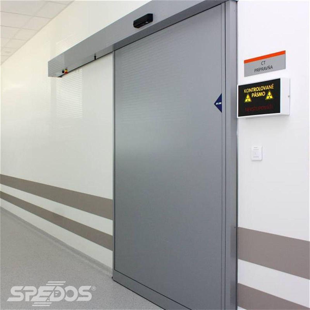 Jednokřídlé automatické posuvné dveře pro nemocnici sv. Michala 2