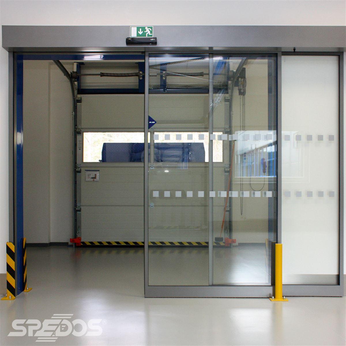 Automatické dveře posuvné otevřené