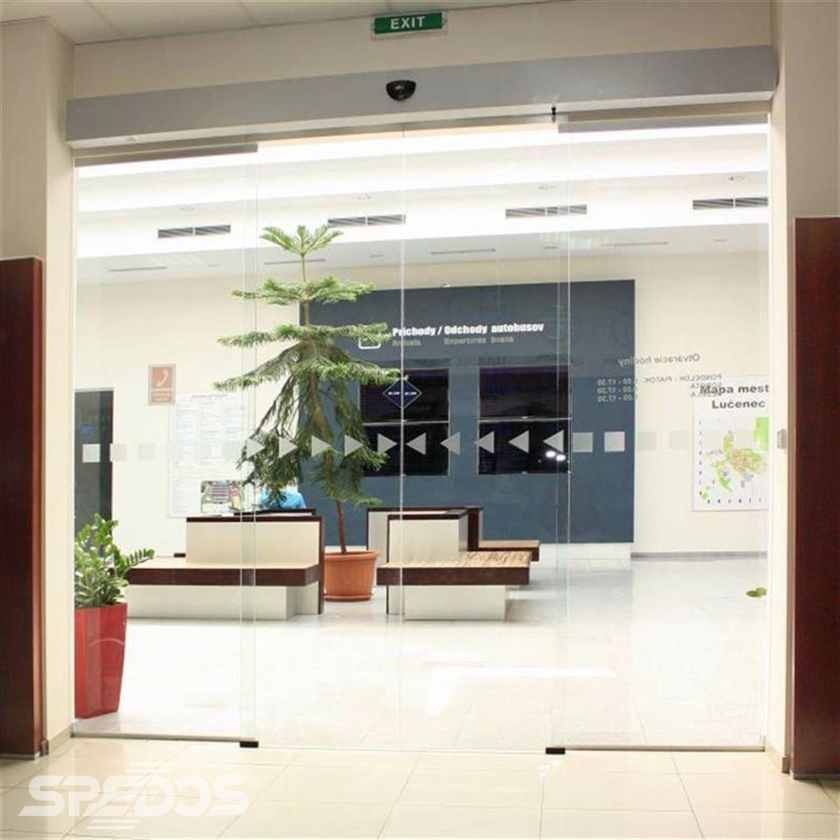 bezrámové automatické dveře Spedos