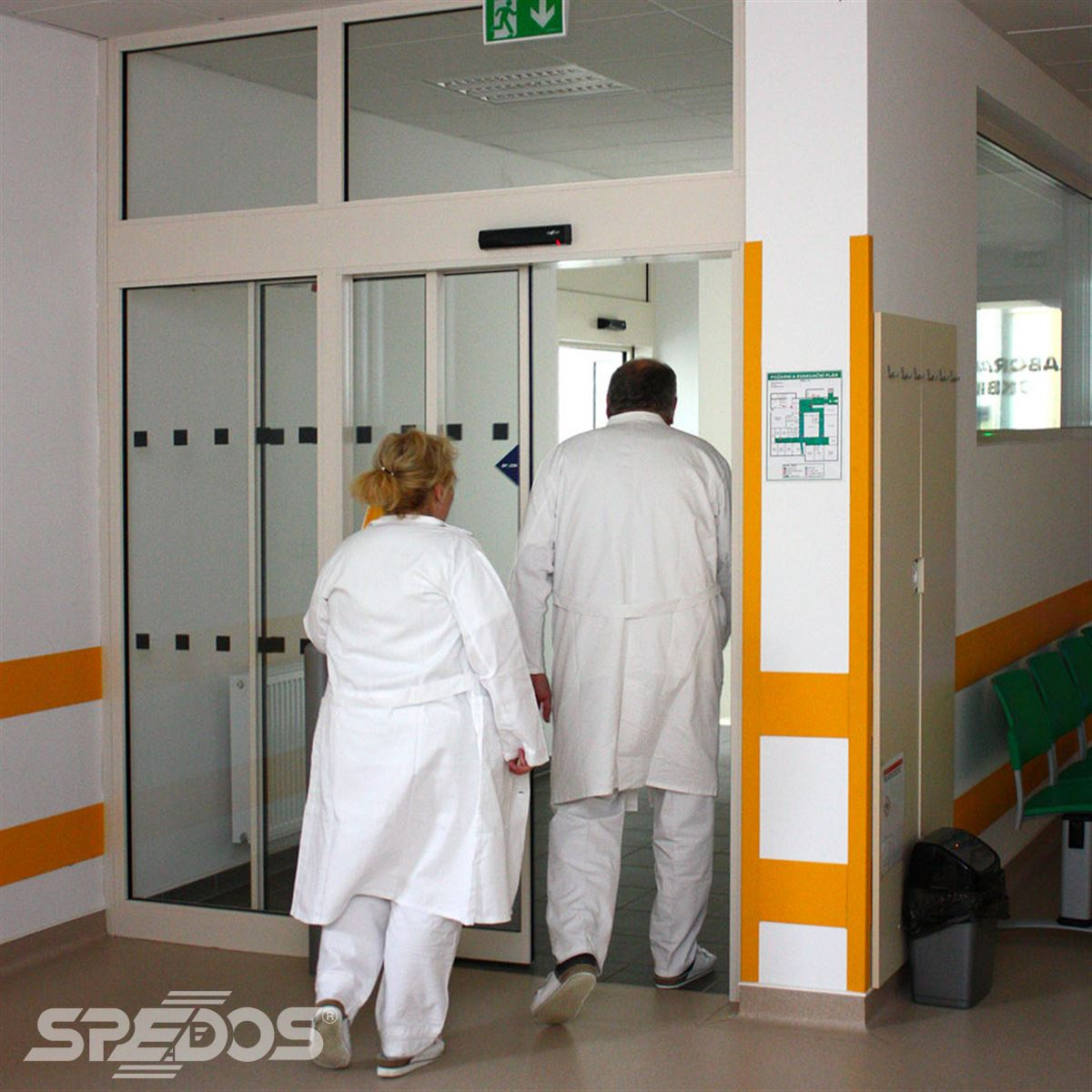 Posuvné automatické dveře v jednokřídlém provedení