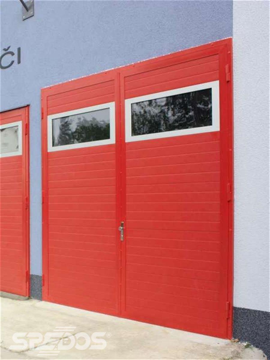 dvoukřídlá garážová vrata popis