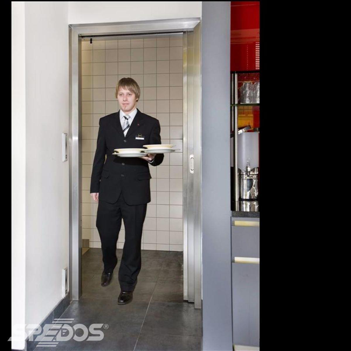 jednokřídlé automatické dvere posuvné v nerezu 2