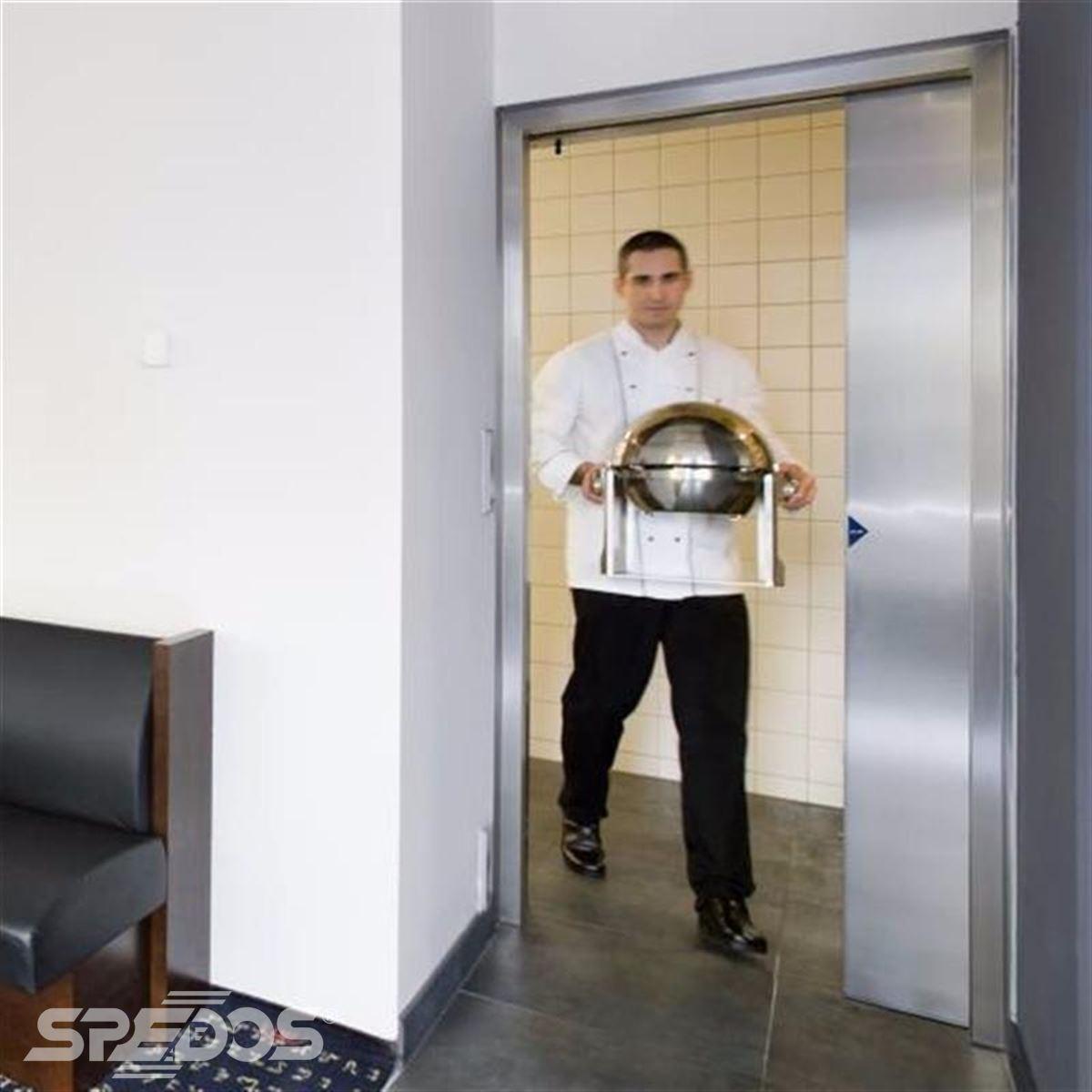 jednokřídlé automatické dvere posuvné v nerezu 3
