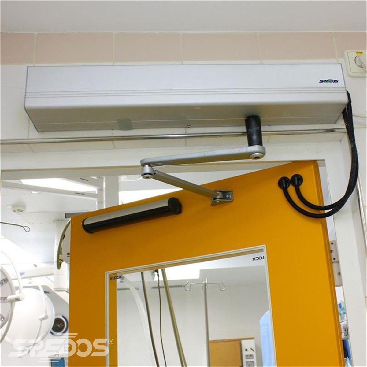 Jednokřídlé automatické dveře s elektropohonem