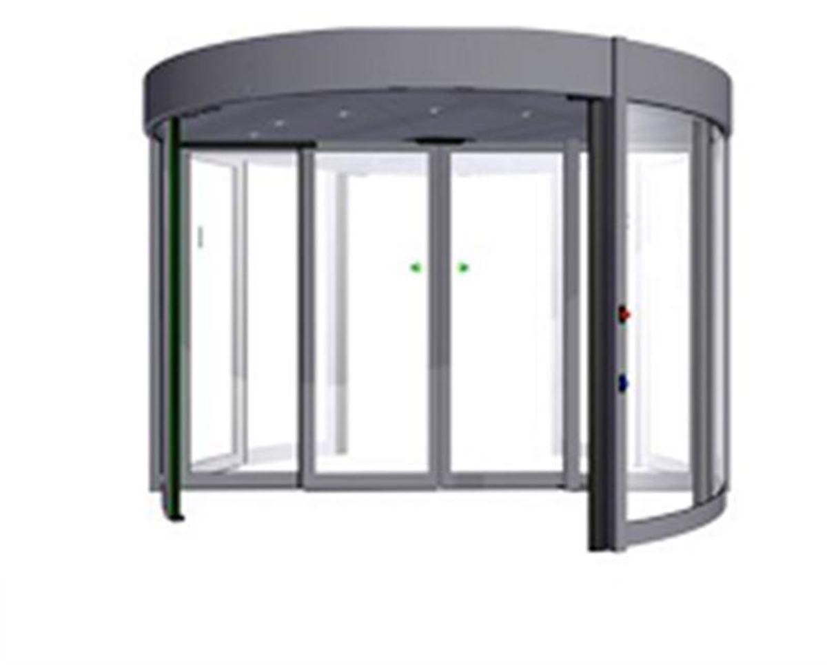 karuselové dveře Duotour konstrukce