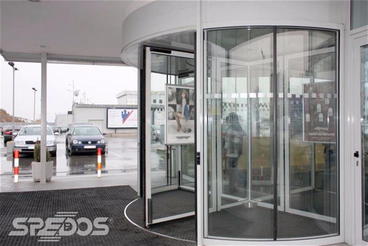 karuselové dveře Tournex bílé
