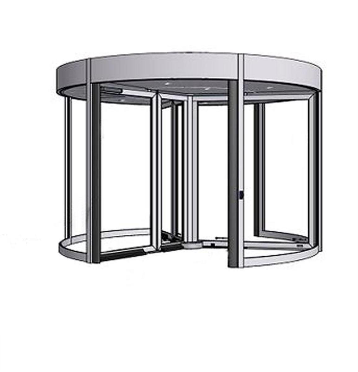 karuselové dveře Tournex konstrukce