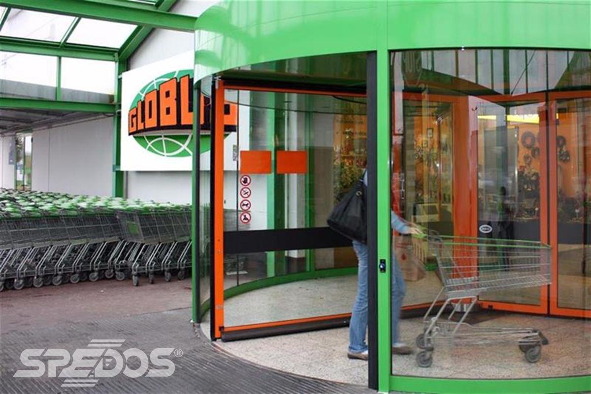 Karuselové dveře Tournex zelené