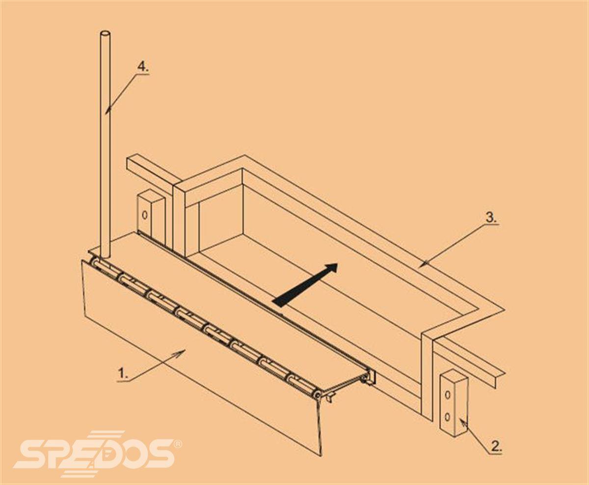 konstrukce klapkového můstku