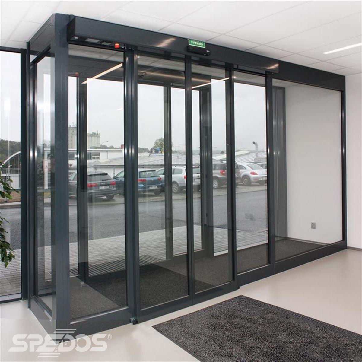 Moderní hliníková konstrukce automatických dveří