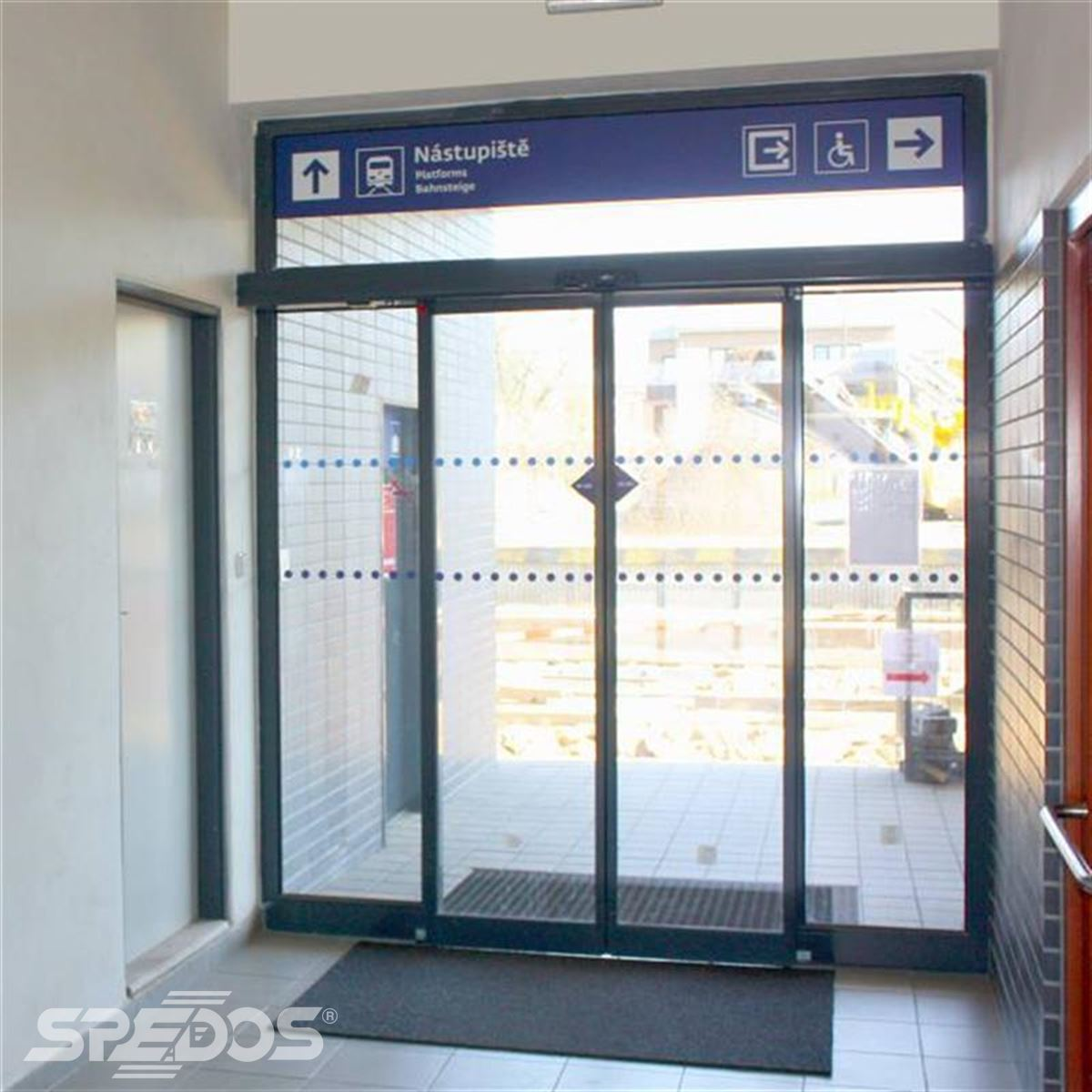 nádražní automatické dveře Spedos