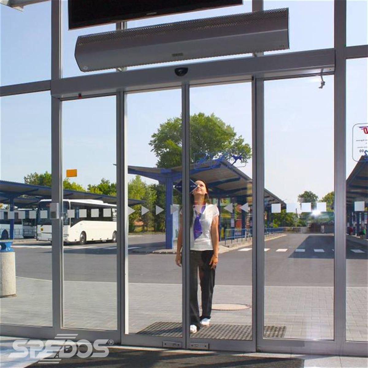 nádražní automatické vstupní dveře Spedos