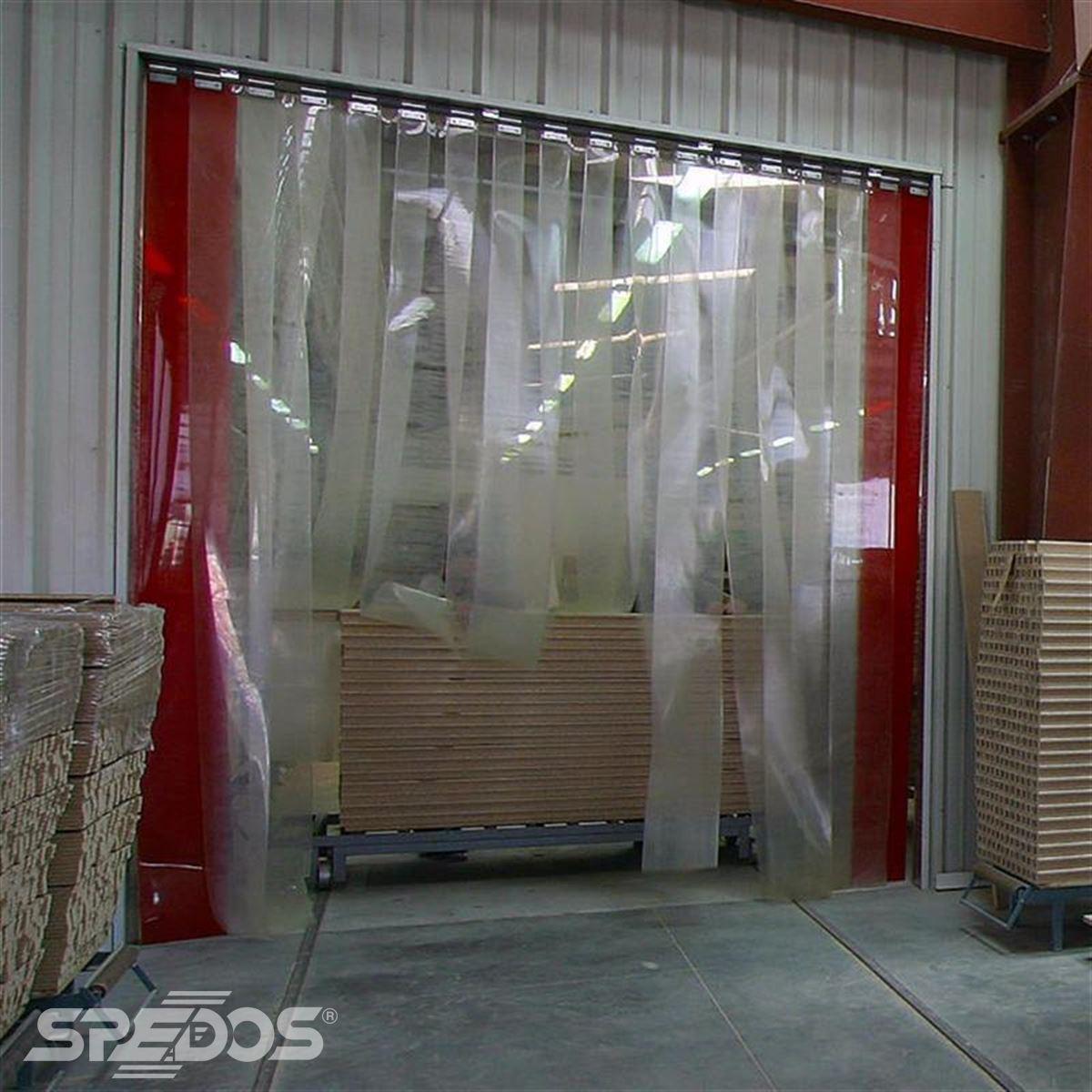 průmyslové pruhové závěsy z PVC od Spedosu