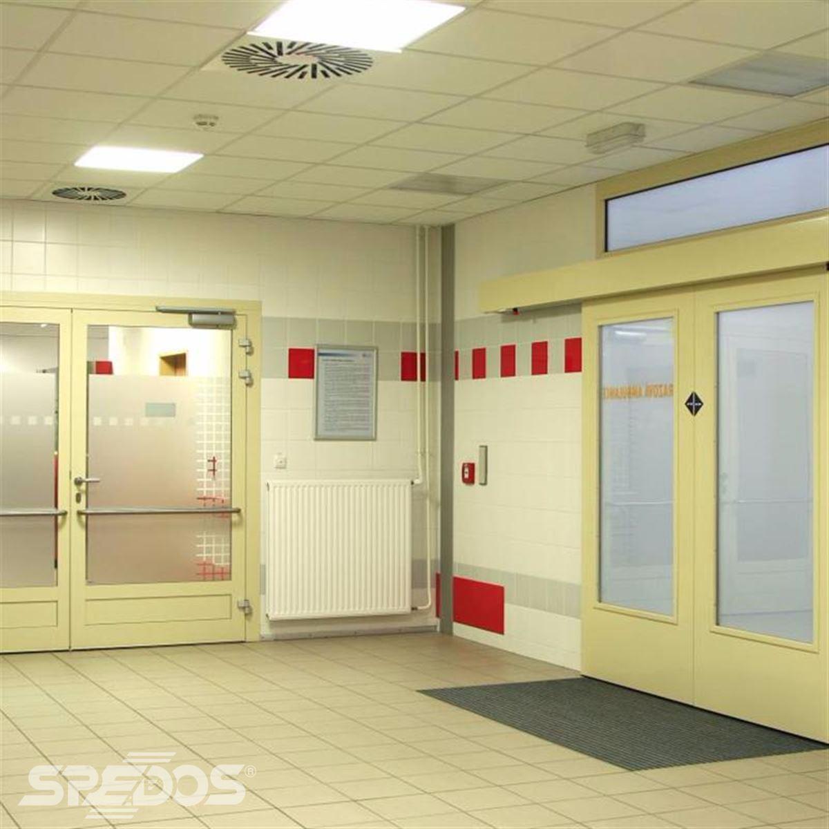 Požární automatické otočné dveře Spedos