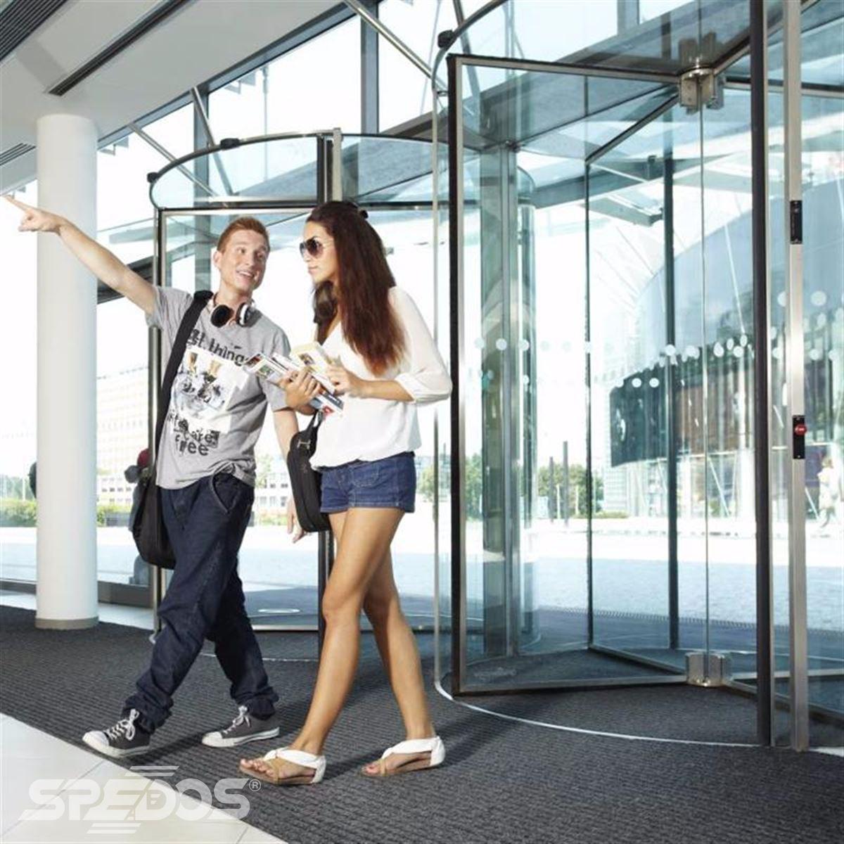 prosklené turniketové dveře Spedos