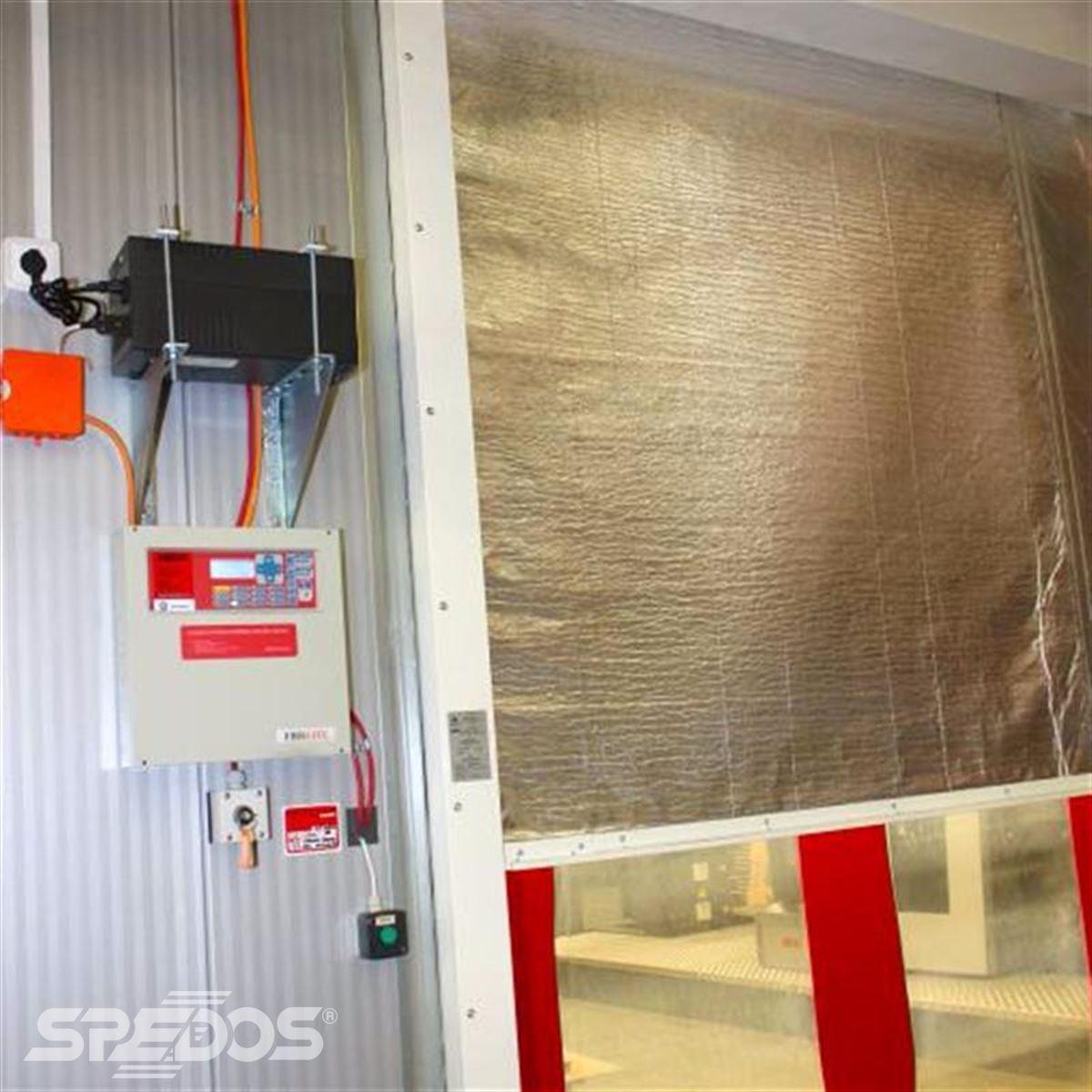 Rychloběžná vrata s požární textilní roletou