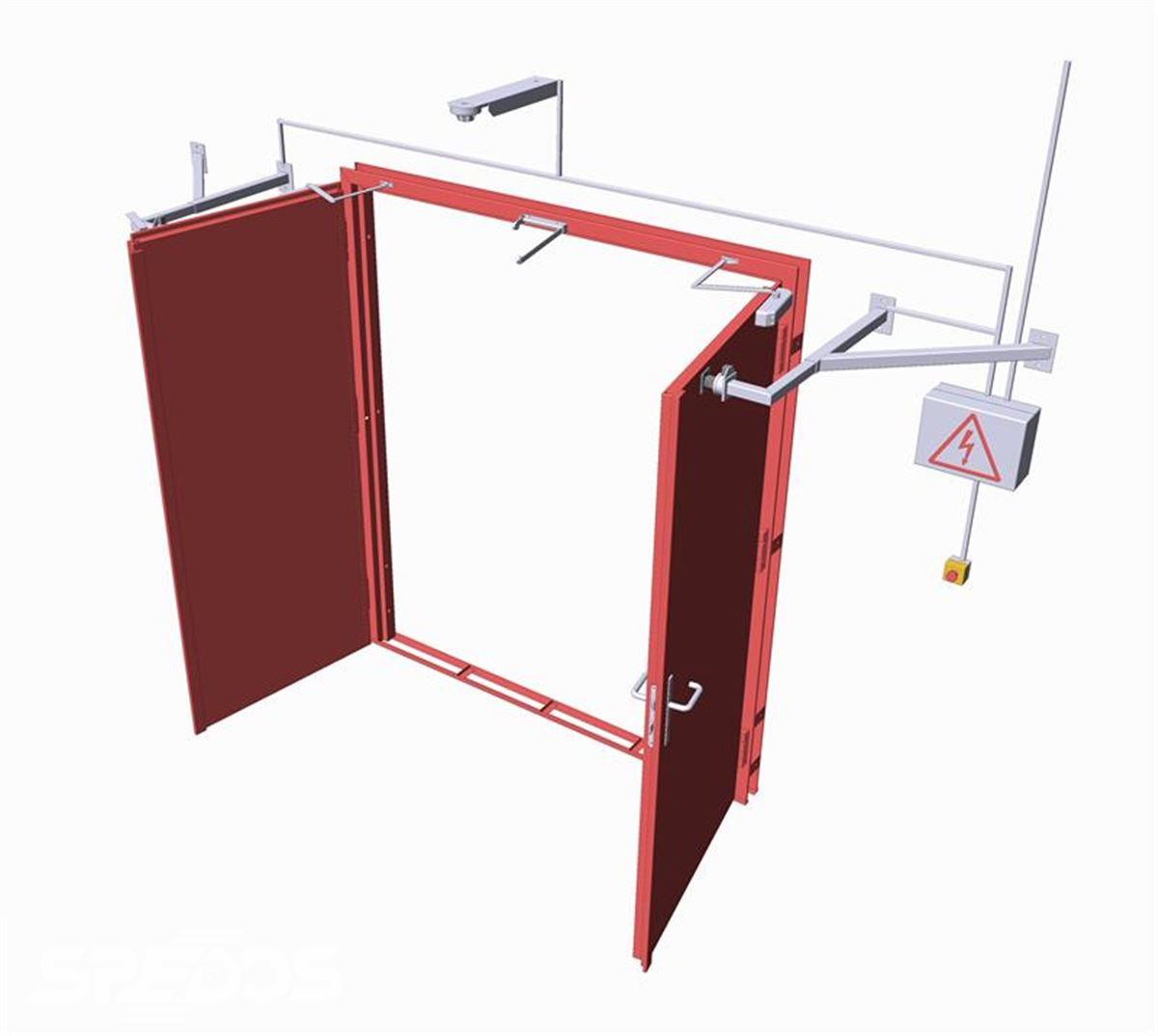 konstrukce protipožárních vrat otevíravých ocelových