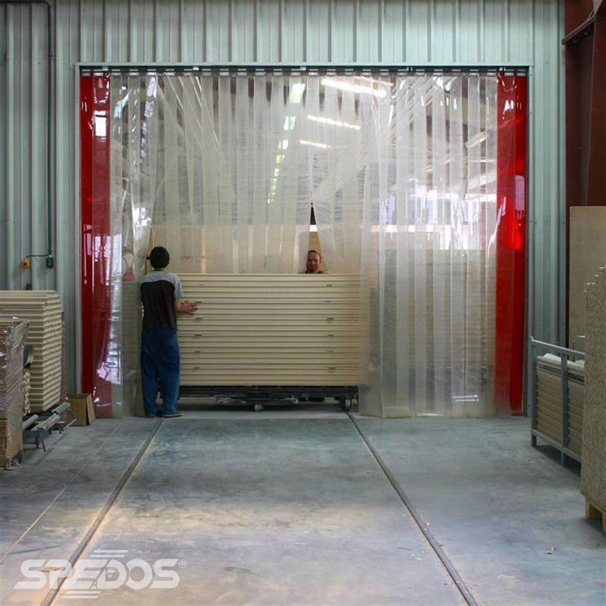 Průmyslové pruhové závěsy z polyvinyl chloridu