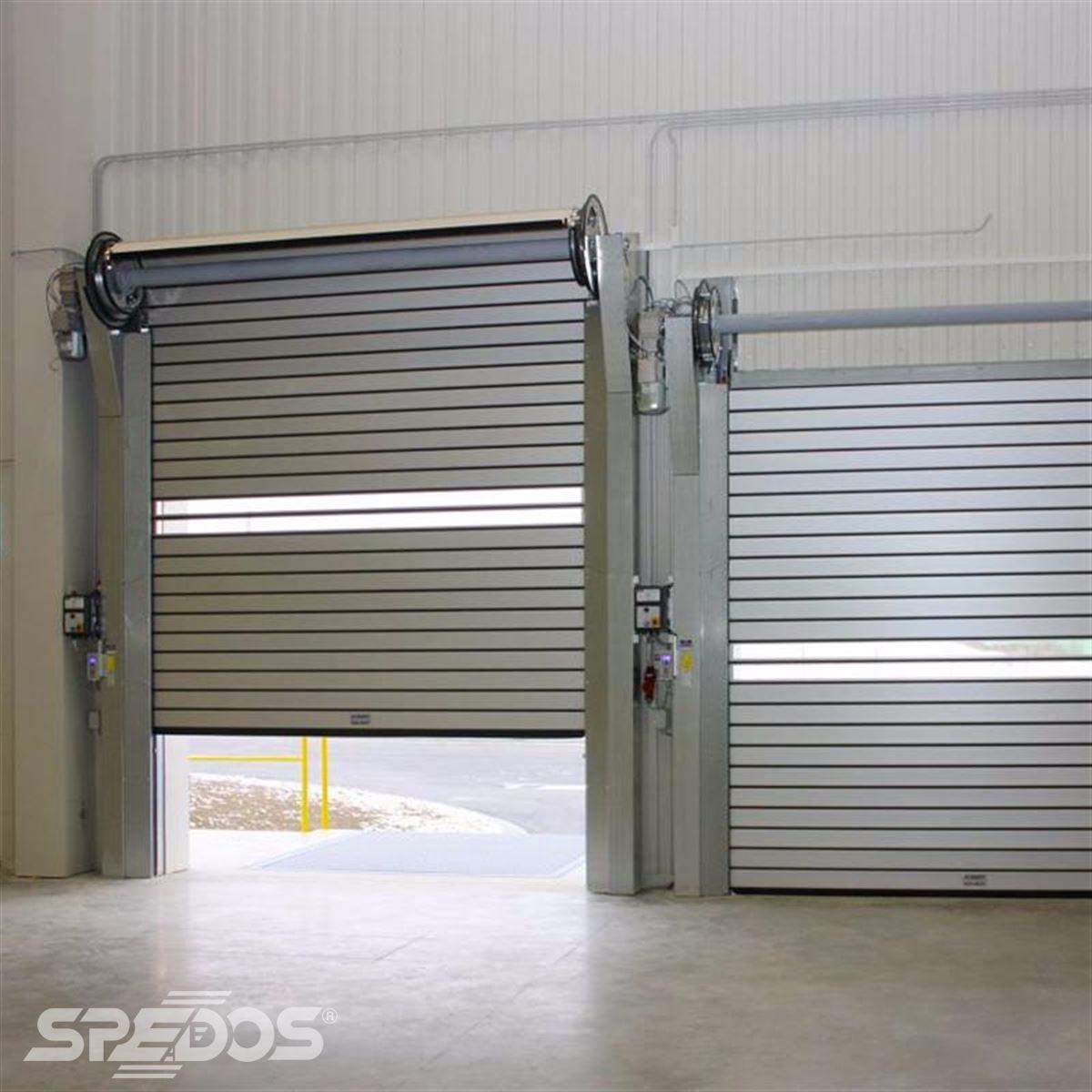 Protipožární navíjecí vrata z hliníku