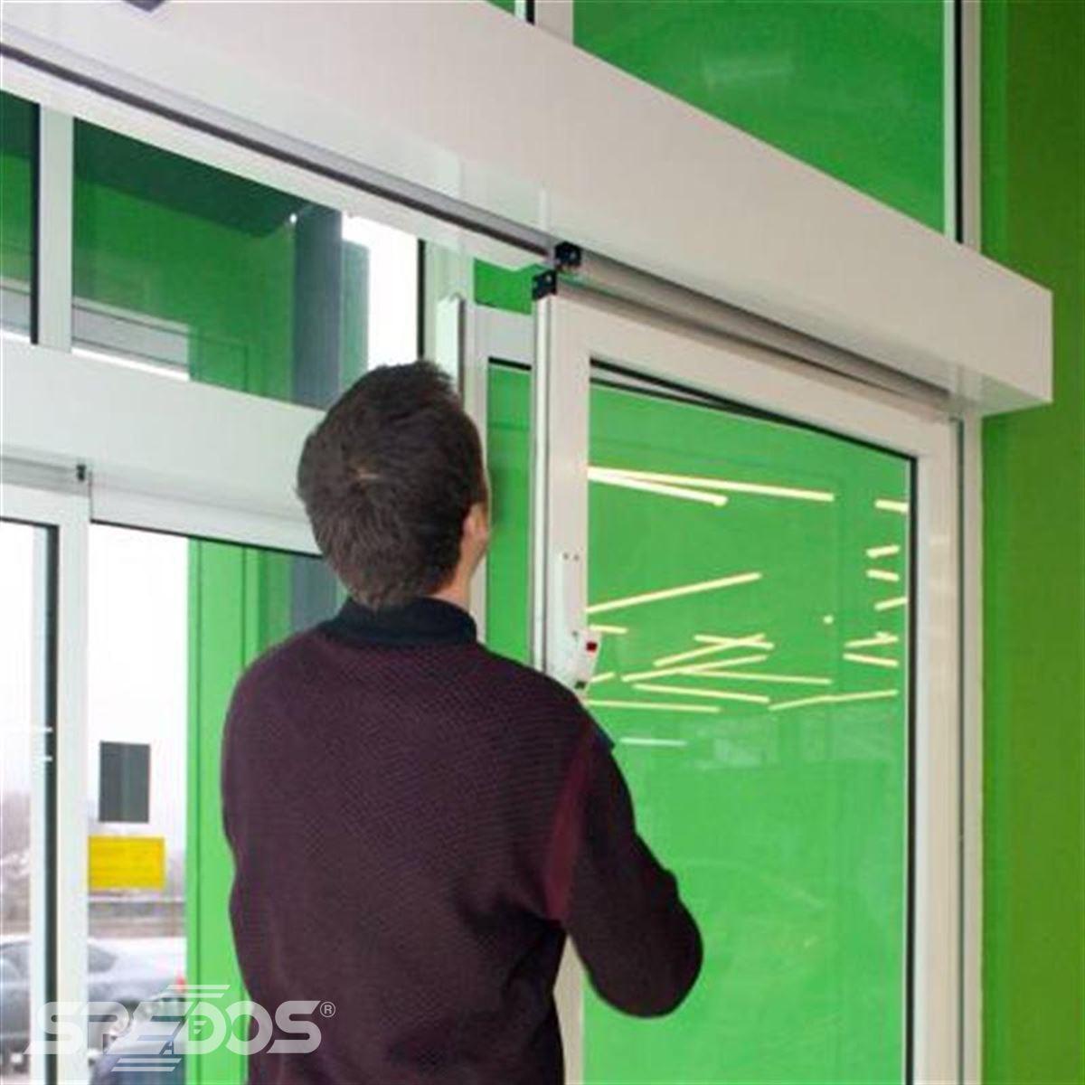 reference na sklopnou variantu automatických posuvných dveří 2