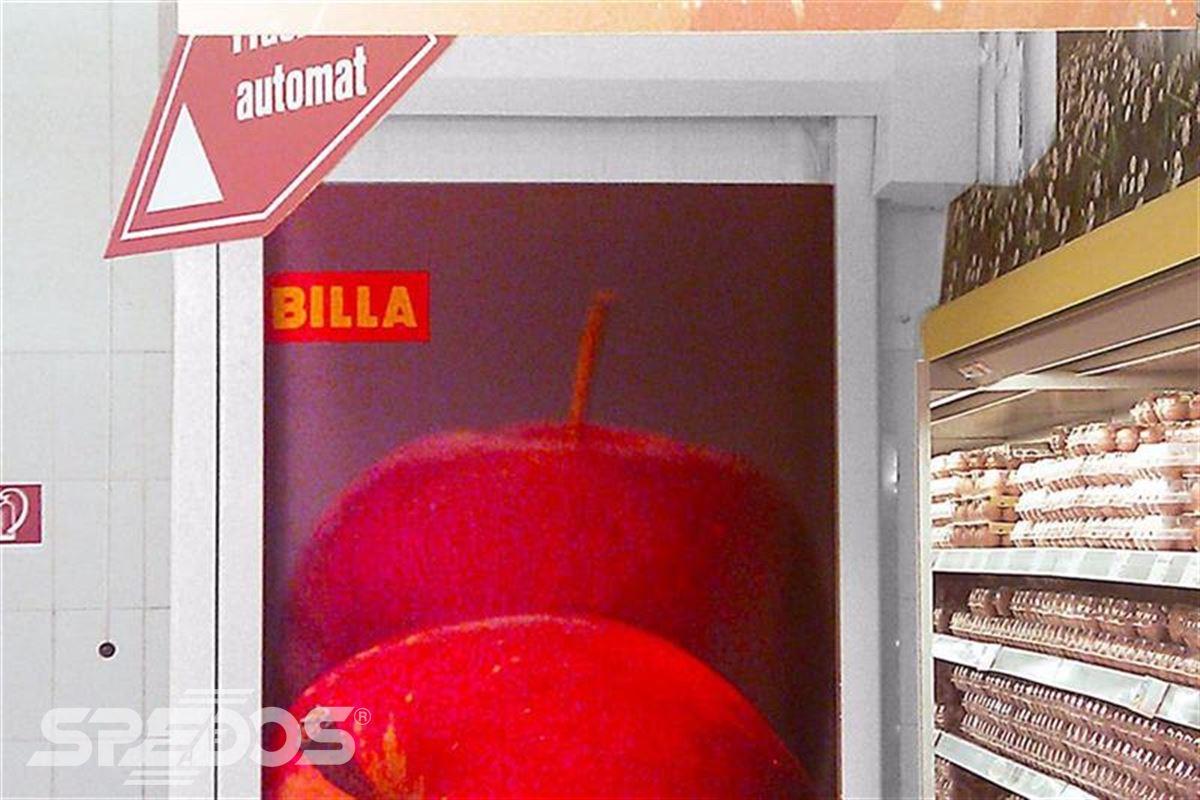 speciální rychloběžná vrata pro supermarket