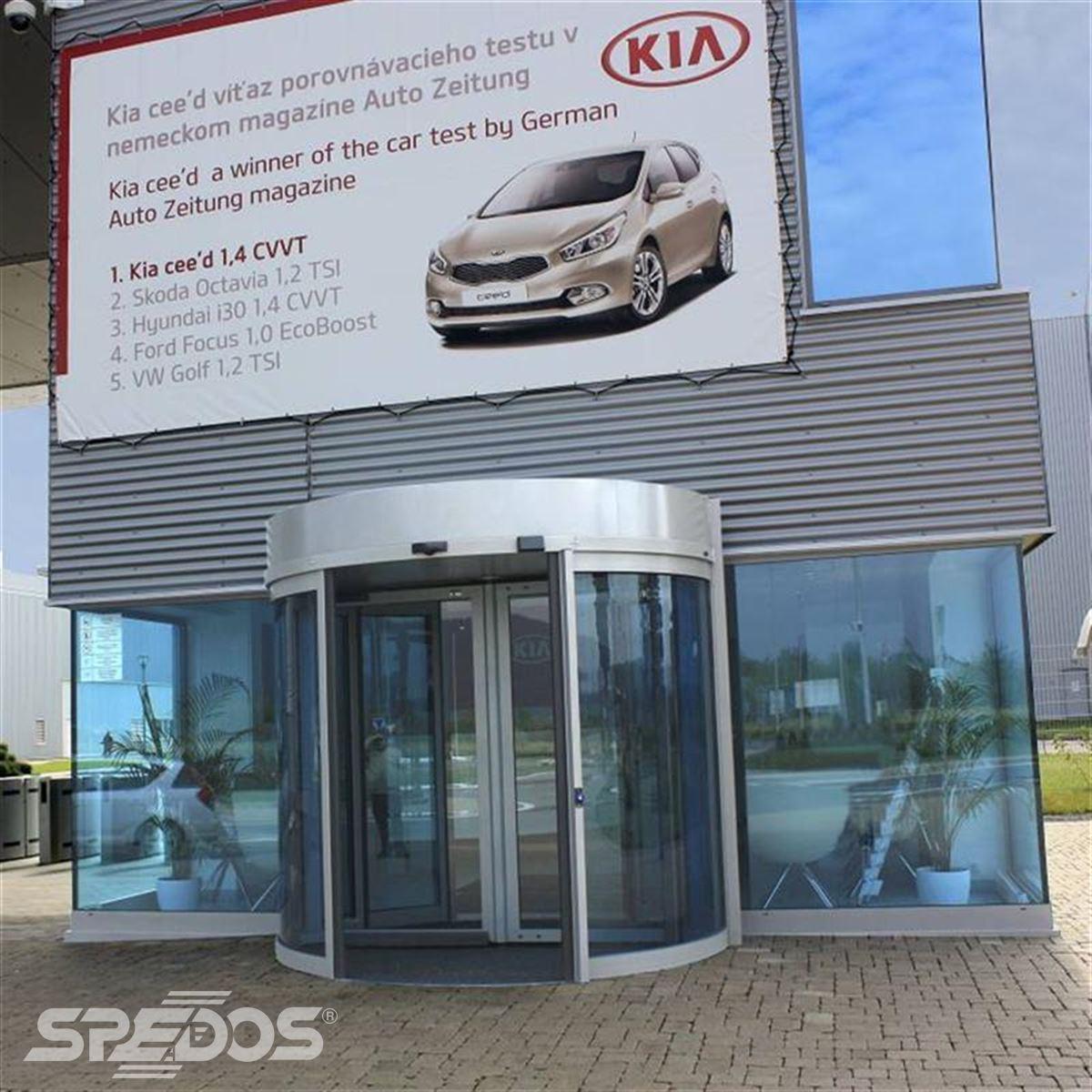 Tourniketové automatické dveře pro společnost Kia