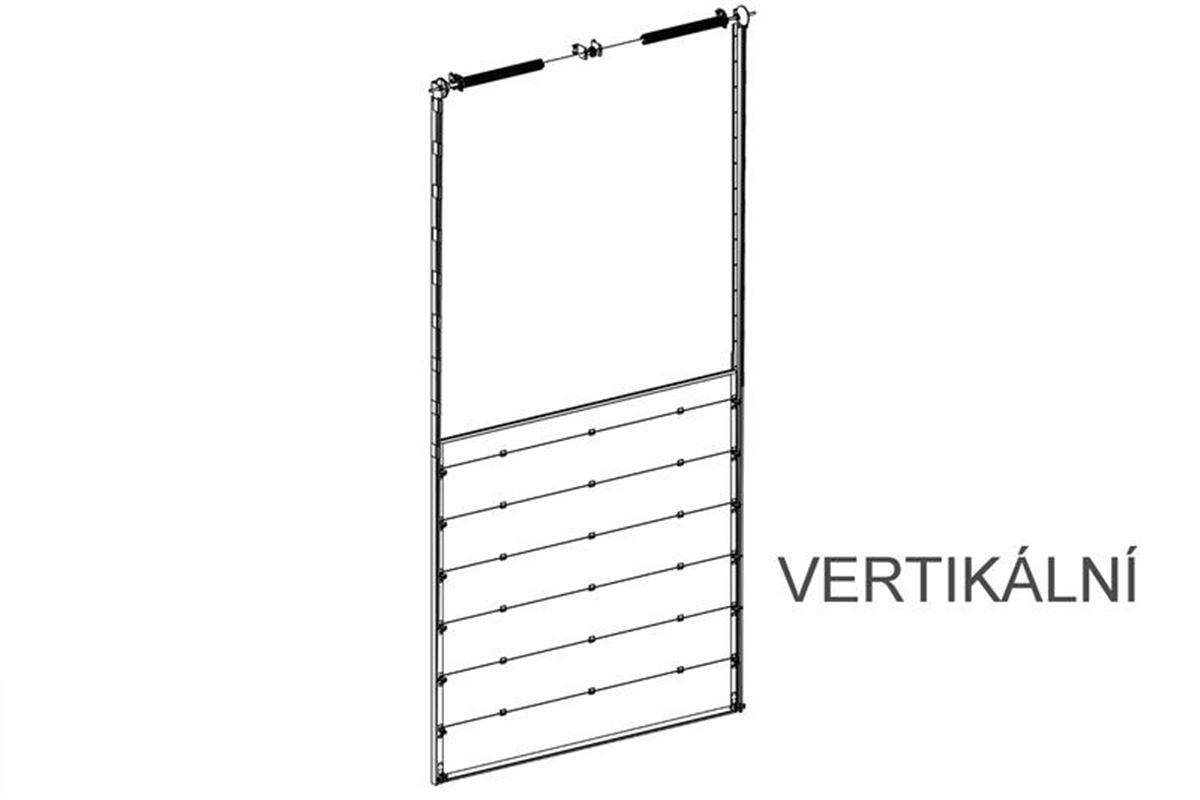 vertikální kolejnice na sekční vrata